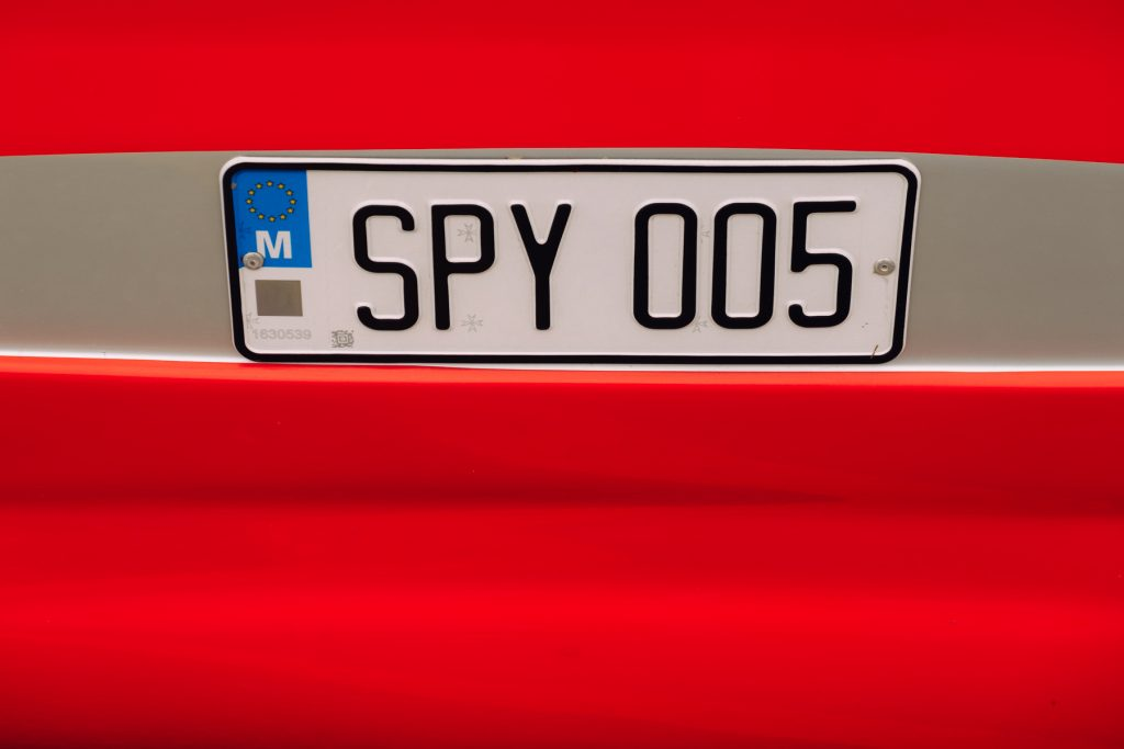 Spy nummerbord - the RED series - Malta © 2018 Matthijs Jonker Fotografie