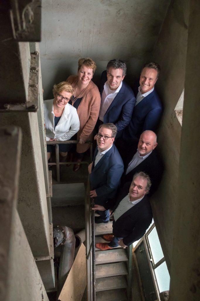 Groepsfoto - Fotoshoot Christenunie fractie Assen, Ondernemersfabriek Assen © 2018 Matthijs Jonker Fotografie