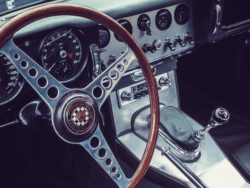 Jaguar E-type - Interior © 2015 Matthijs Jonker Fotografie