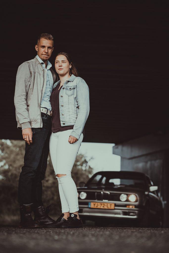 Fotoshoot Brenda, Demian en BMW 316i #15, Skaterpark Kloosterveen Assen © 2018 Matthijs Jonker Fotografie