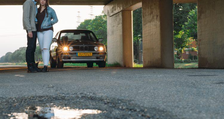 Fotoshoot Brenda, Demian en BMW 316i #16, Skaterpark Kloosterveen Assen © 2018 Matthijs Jonker Fotografie