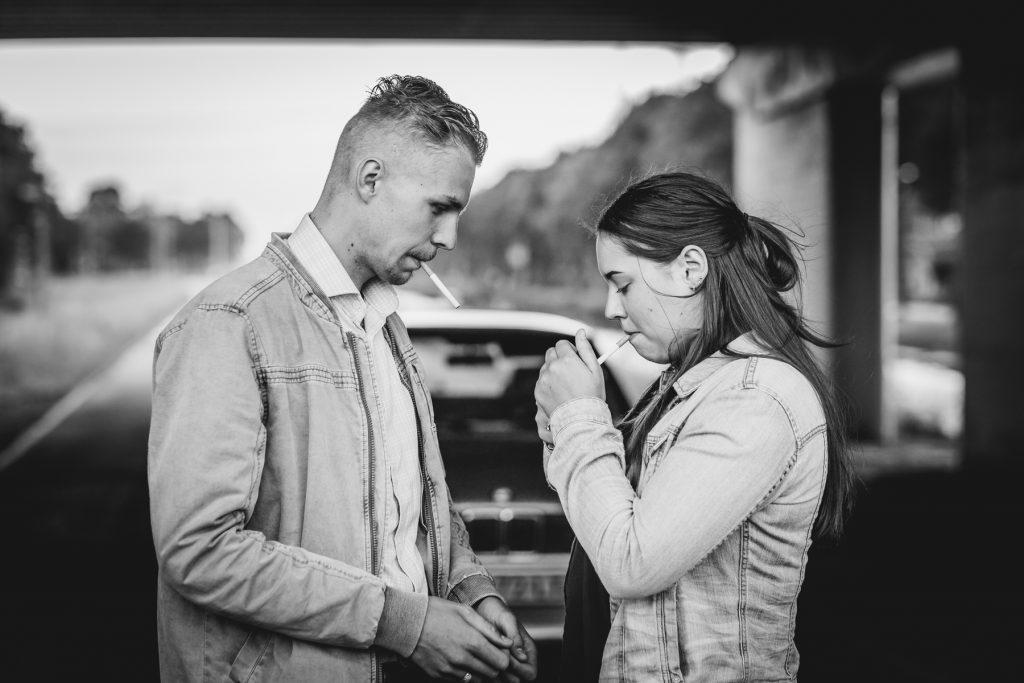 Fotoshoot Brenda, Demian en BMW 316i #17, Skaterpark Kloosterveen Assen © 2018 Matthijs Jonker Fotografie