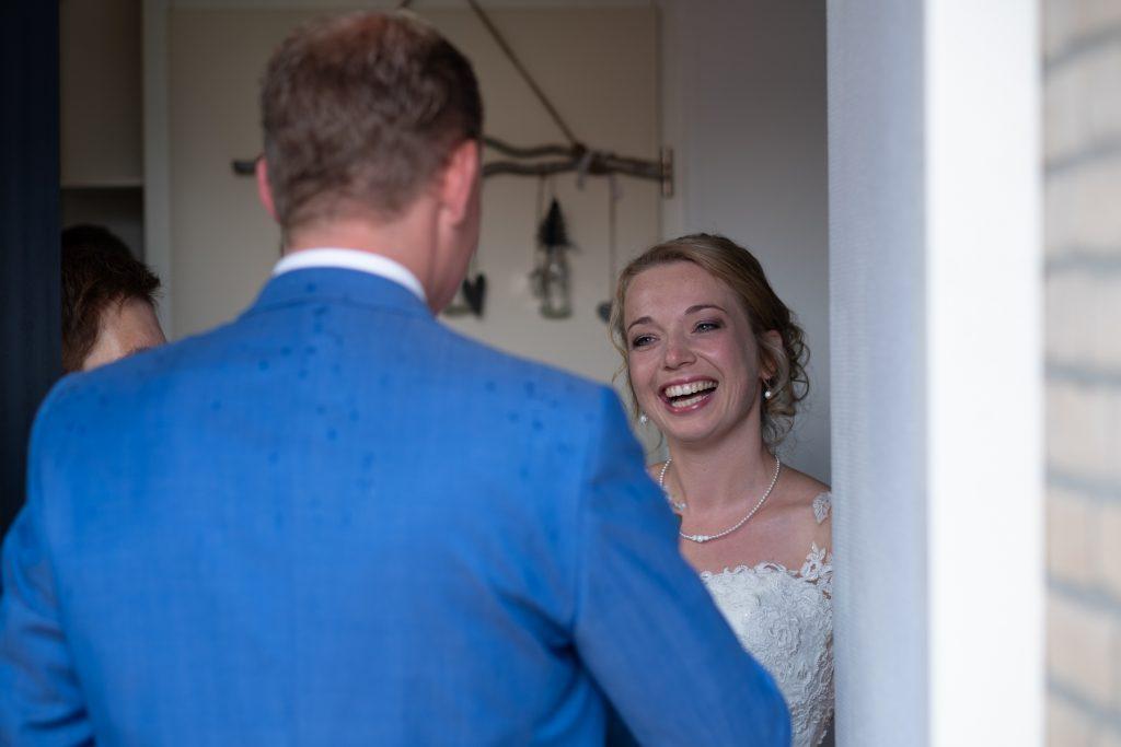 first look, bruiloft Arjan en Marion, Smilde © 2018 Matthijs Jonker Fotografie